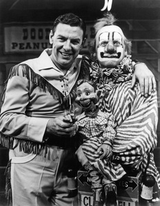 """""""Howdy Doody Show""""Buffalo Bob (Bob Smith), Howdy Doody, Clarabell the Clown (Alfie Scopp)circa 1955 - Image 10309_0001"""