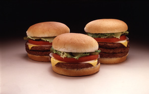 """Food Shots""Cheeseburgers1977 © 1978 Sid Avery - Image 10370_0039"