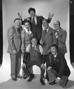 """""""Civic Light Opera: How to Succeed in Business Without Really Trying""""John Myhers, Ruth Kobart, Robert Morse, Sammy Smith, Rudy Valle, Christian Grey, Bill Mullikin1975 © 1978 Eric Skipsey - Image 10404_0003"""