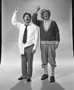 """""""Civic Light Opera: How to Succeed in Business Without Really Trying""""Robert Morse, Rudy Vallee1975 © 1978 Eric Skipsey - Image 10404_0004"""