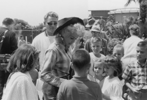 Donna DouglasSigning autographs at Marineland1964 © 1978 Kim Maydole Lynch - Image 10448_0005