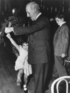 Walter Winchell dancing with his adopted daughter Jane at The Stork Clubc. 1947MPTV - Image 10479_0006