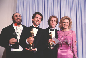 """""""Academy Awards - 53rd Annual""""Luciano Pavarotti, Angie Dickinson 1981 © 1981 Gunther - Image 10548_0036"""