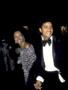 """Academy Awards: 53rd Annual,"" Diana Ross, Michael Jackson. 1981. © 1981 Gunther - Image 10548_0056"