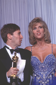 """Academy Awards - 62nd Annual""Tom Schulman, Jane Fonda1990 © 1990 Gunther - Image 10550_0004"
