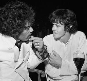 Jimi Hendrix and Donovan Leitch at the Factory nightclub 1968 © 1978 Larry Kastendiek - Image 10554_0034