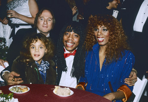 Stephen Stills, Rick James and Donna Summer with her daughter at the Grammy Awardscirca 1980s© 1980 Michael Jones - Image 10557_0047
