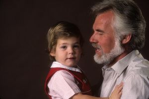 Kenny Rogers with his son, Christopher Cody Rogers1984© 1984 Mario Casilli - Image 10575_0055