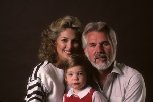 Kenny Rogers with his wife, Marianne Gordon, and their son, Christopher Cody Rogers1984© 1984 Mario Casilli - Image 10575_0057