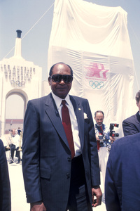 Tom Bradley during the Olympic games in Los Angeles, California1984 © 1984 Ulvis Alberts - Image 10587_0002