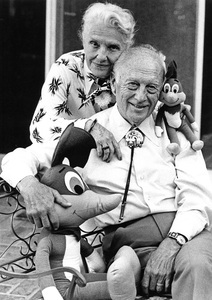 Walter Lantz and wife Grace Stafford in Los Angeles1978 © 1978 Ulvis Alberts - Image 10650_0021