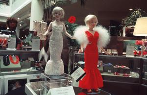 Monro Memorabilia,Marilyn Monroe dolls worth $400 and $80. © 1983 Ulvis Alberts - Image 10671_0004