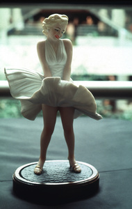 Monroe Memorabilia,Marilyn Monroe figurine doll - $100. © 1983 Ulvis Alberts - Image 10671_0005