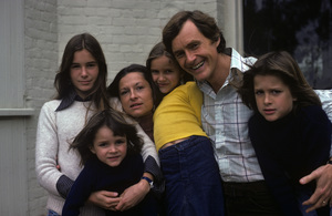 Orson Bean with his wife, Carolyn Maxwell, and four children (Michelle, Max, Susannah, and Ezekiel)1975© 1978 Ulvis Alberts - Image 10672_0002