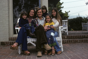 Orson Bean with his wife, Carolyn Maxwell, and four children (Michelle, Max, Susannah, and Ezekiel)1975© 1978 Ulvis Alberts - Image 10672_0003