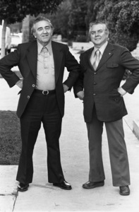 Jerry Siegel and Joe Shuster (creators of Superman character for the original comics)1979 © 1979 Ulvis Alberts - Image 10674_0011