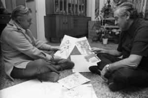 Jerry Siegel and Joe Shuster (creators of Superman character for the original comics)1979 © 1979 Ulvis Alberts - Image 10674_0012