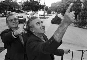 Jerry Siegel and Joe Shuster (creators of Superman character for the original comics)1979 © 1979 Ulvis Alberts - Image 10674_0013