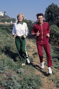 Jack LaLanne with his wife Elaine1976 © 1997 Ken Whitmore - Image 10686_0015