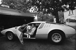 Jack LaLanne at his home in Beverly Hills driving his 1969 DeTomaso Mangustacirca 1969© 1978 Gunther - Image 10686_5