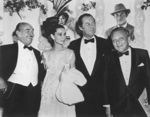 """""""My Fair Lady"""" Premiere Jack Warner, Audrey Hepburn, Rex Harrison, Fredrick Loewe 1964 - Image 10706_0001"""