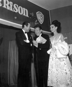"""My Fair Lady""  PremiereRex Harrison,Arthur Godfrey, Audrey Hepburn1964 - Image 10706_0015"