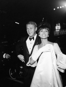 """My Fair Lady"" (Premiere) Steve McQueen with wife Neile Adams 1964 © 1978 Mel Traxel - Image 10706_0029"
