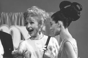 """""""My Fair Lady"""" Premiere, 1964Audrey Hepburn, Hedda Hopper © 1978 Chester Maydole - Image 10706_0031"""