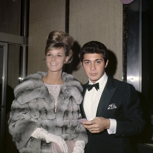 "Anne de Zogheb and Paul Anka at the New York premiere of ""My Fair Lady"" October 21, 1964Photo by Irv Steinberg** B.D.M. - Image 10706_0034"