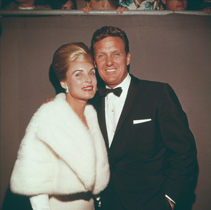 """Academy Awards - 35th Annual""Robert Stack with his wife Rosemary Bowe1963 © 1978 David Sutton - Image 10724_0023"