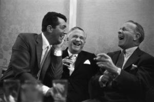 Dean Martin, Mervyn LeRoy and George Burns at a Friar