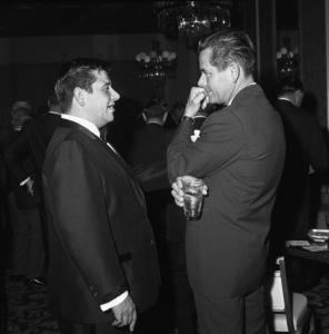 Buddy Hackett and Glenn Ford at a Friar
