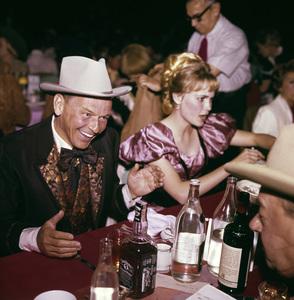 """Share Party""Frank Sinatra, Mia Farrow1965© 1978 Bernie Abramson - Image 10736_0009"