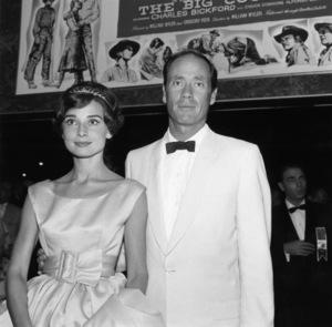 """Big Country"" (Premiere)Audrey Hepburn and Mel Ferrer1958© 1978 Bernie Abramson - Image 10749_0002"