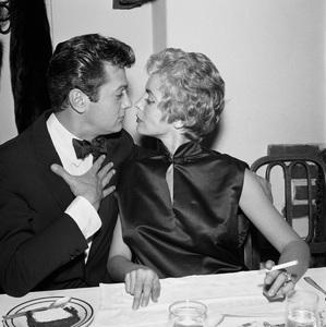 """Judy Garland Testimonial"" Tony Curtis, Janet Leigh circa 1958 © 1978 Bernie Abramson - Image 10750_0008"