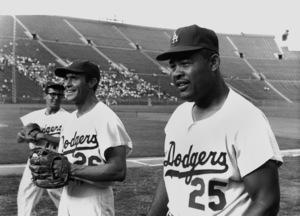 """Celebrity Baseball""Ricardo Montalban, Joe Louis1959 © 1978 Bernie Abramson - Image 10752_0013"