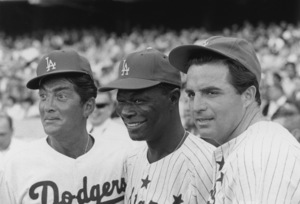 """Celebrity Baseball Game"" Dean Martin, Nat King Cole, Vince Edwards 1964 © 1978 Chester Maydole - Image 10752_0024"