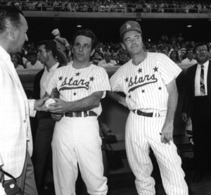 """Celebrity Baseball""Peter Falk, Jack Lemmon1964Photo by Joe Shere - Image 10752_0025"
