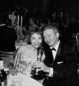 """Academy Awards: 30th Annual,""Red Buttons with his Oscar.  1958. © 1978 Bernie Abramson - Image 10764_0003"