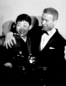 """Academy Awards: 30th Annual,"" Miyoshi Umeki, Red Buttons. 1958. © 1978 Sid Avery - Image 10764_0012"