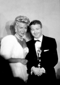 """""""Academy Awards: 30th Annual,"""" Lana Turner and Red Buttons. 1958. © 1978 Sid Avery - Image 10764_0014"""