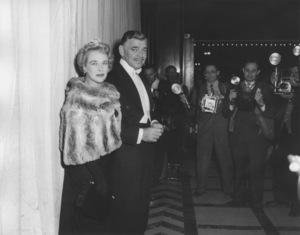 """Academy Awards - 30th Annual""Clark Gable and wife Kay Spreckles1958**I.V. - Image 10764_0031"