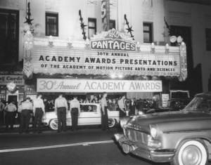 """Academy Awards - 30th Annual""Pantages Theatre1958 **I.V. - Image 10764_0034"