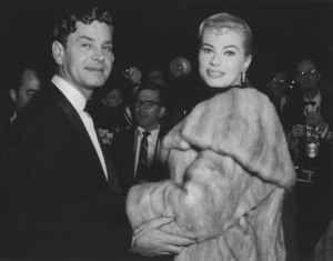 """Academy Awards - 30th Annual""Anita Ekberg with husband Anthony Steel1958 **I.V. - Image 10764_0054"
