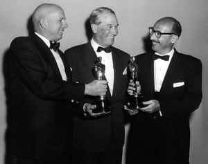 """The 30th Annual Academy Awards""Jimmy Van Heusen, Maurice Chevalier, Sammy Cahn1958** I.V. - Image 10764_0081"