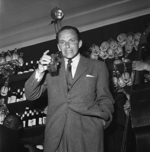 Frank Sinatra at a bon voyage party for Patsy and Rose D