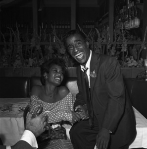 Sammy Davis Jr. at a bon voyage party for Patsy and Rose D