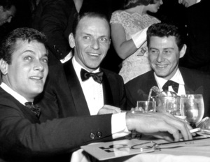 """Golden Globe Awards""Frank Sinatra, Tony Curtis, Eddie Fisher © 1978 Bernie Abramson - Image 10782_0005"