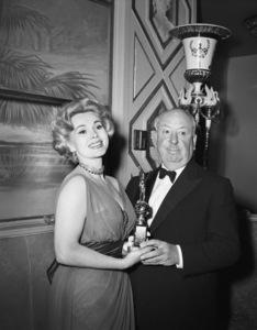 """Golden Globe Awards"" Zsa Zsa Gabor, Alfred Hitchcock 1958 © 1978 Bernie Abramson - Image 10782_0013"