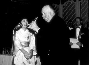 """Golden Globe Awards,"" Miyoshi Umekiwith Alfred Hitchcock, 1958. © 1978 Bernie Abramson - Image 10782_0017"